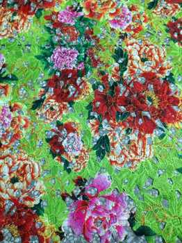 n2014 Polyester Printting guipure lace fabric allover embroidery flower printted chemical lace African printing very beautiful