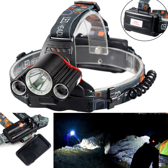 15000Lm Cree 3x T6 LED Recarregável 18650 Farol Cabeça Da Tocha l7118