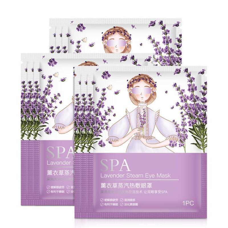 Lavender Steam Warm Eye Mask Remove Dark Circle Eye Bags Eliminate Puffy Wrinkles Anti Aging Eyes Fine Line Mask