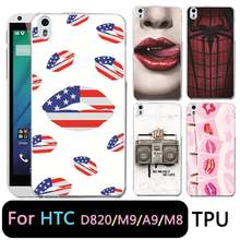 QMSWEI TPU Clear Phone Case For HTC M8 Zebra Radio Spider Printed Protective Painted Soft cover Free shipping For HTC D820 M9 A9(China)