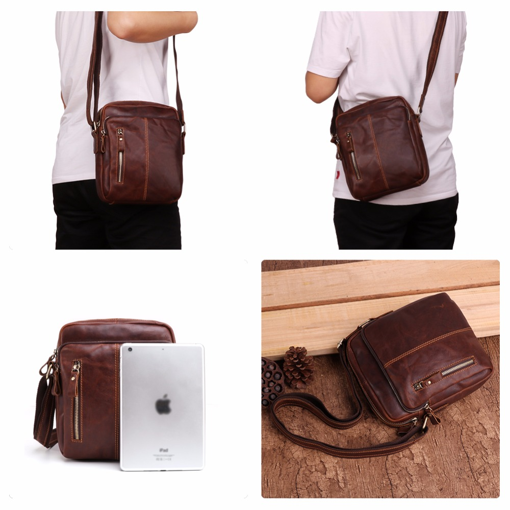 JOYIR Messenger Bag Genuine Leather Men 39 s Shoulder Bag Vintage Flap Travel Business Crossbody Bag for Male Leather Handbags 2018 in Crossbody Bags from Luggage amp Bags