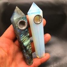 2 PCS of natural quartz crystal smoke pipe healing