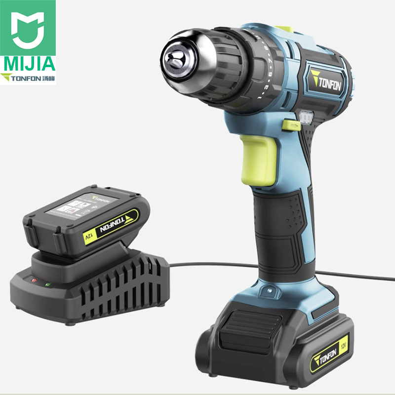 Xiaomi Youpin Electric Screwdriver Cordless Drill Mini Wireless Power Driver Sets 12V 1200mAh Battery 2 Speed