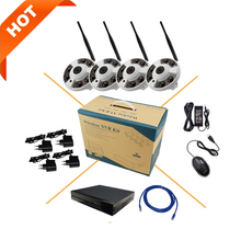 Wireless WiFi wide-angle network 1080P HD surveillance camera Onivf H.264 P2P 8CH NVR CCTV security system