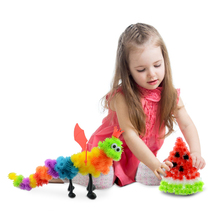 400pcs Educational Assembling 3D Puzzles DIY Toys Puff Ball Squeezed Variety Shape Creative Handmade animal Toys For Children