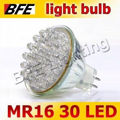 4pcs/Lot 30 LED MR16 Warm/Cold White Spot Light Bulbs Bright LED Car Holiday Sale Drop Ship