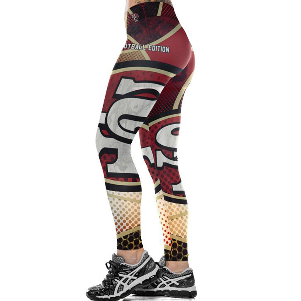 SAN FRANCISCO 49ER 3D PRINT WOMEN LEGGINGS HIGH WAIST LEGGING STEELERS PRINTED WOMEN PANTS SLIM FITNESS LEGGINS