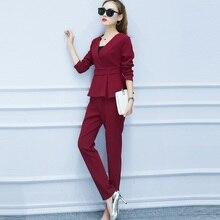 Spring Women Pant Suit