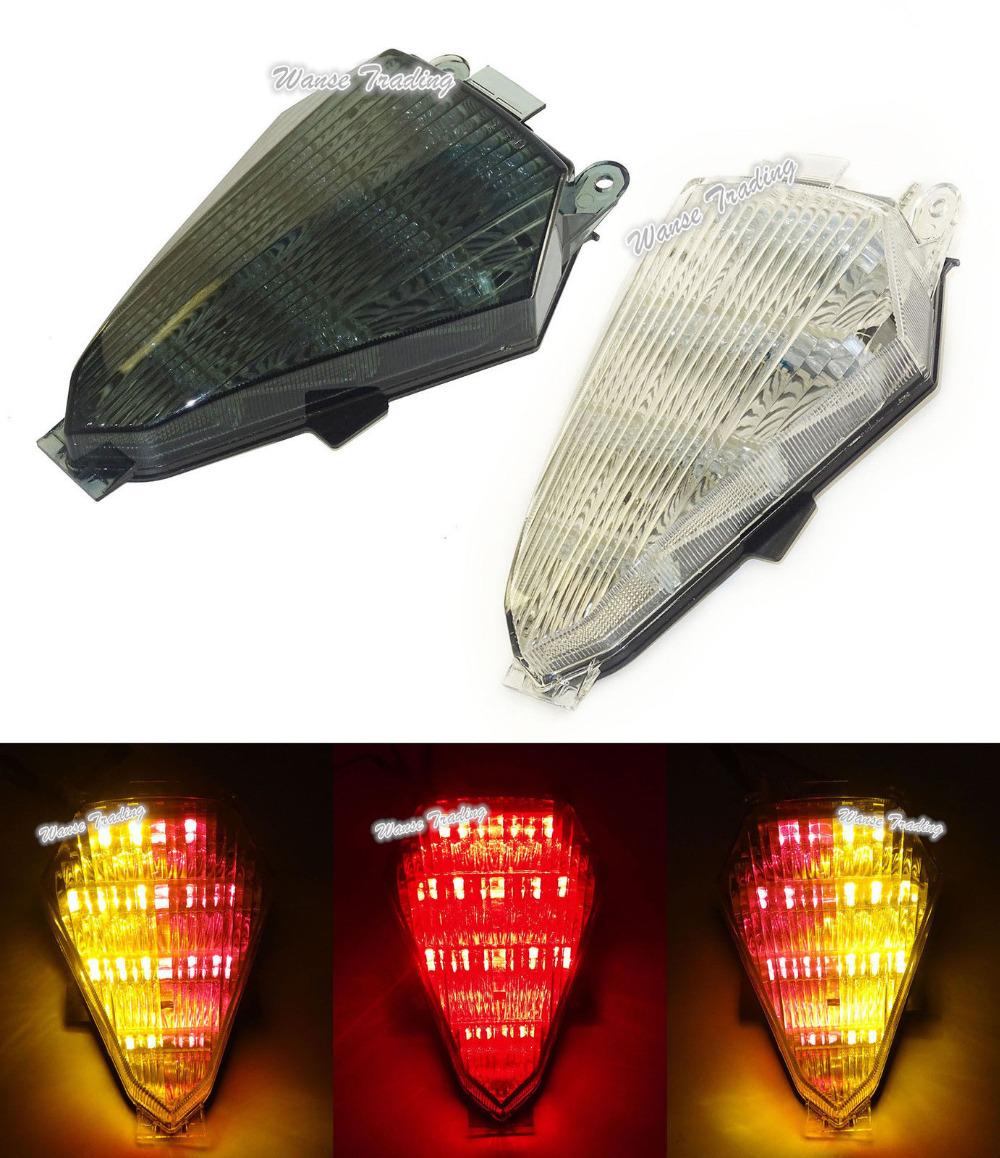 Prix pour Pour YAMAHA YZF R6 RJ15 2008 2009 2010 2011 2012 2013 2014 2015 2016 Tail Lumière De Frein Clignotants LED Intégré Lumière