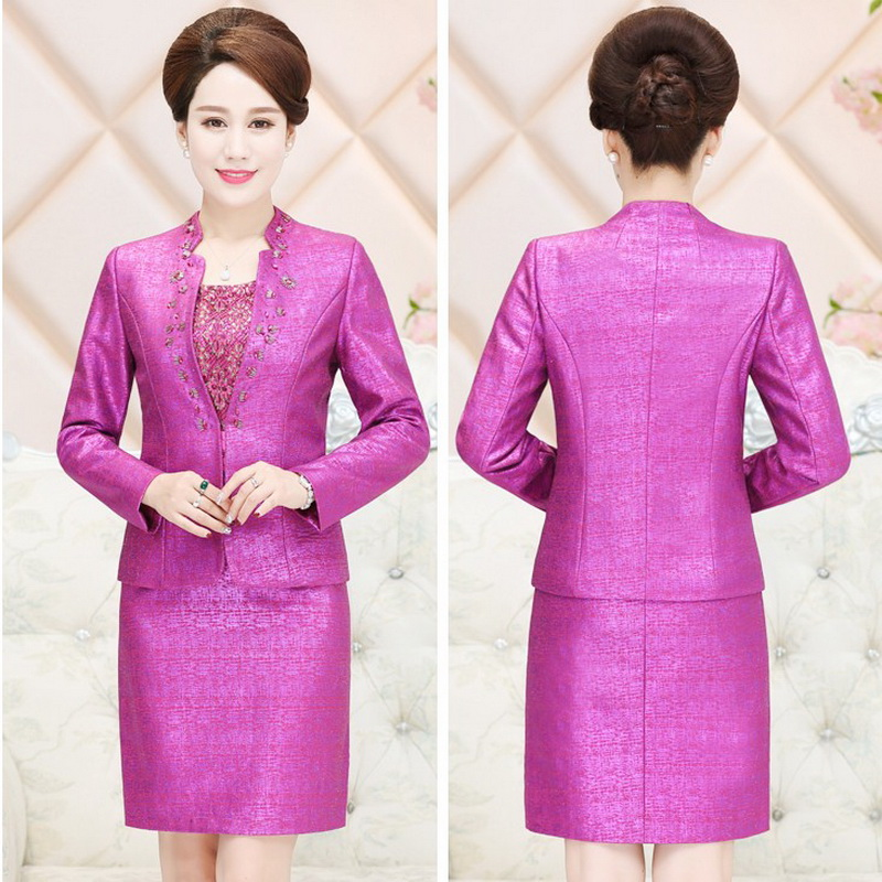 Mother Dress Suit for Ladies New 2018 Luxury Designer Womens Suit ...