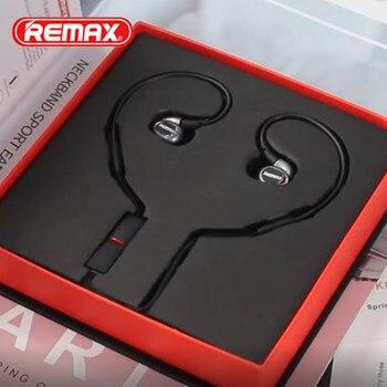 Remax RB-S8 HiFi inalámbrico Bluetooth auricular HD estéreo de banda para el cuello de auriculares para iPhone Xs max Xr 8X6 7 además de 6s 5 5 s xiaomi huawei