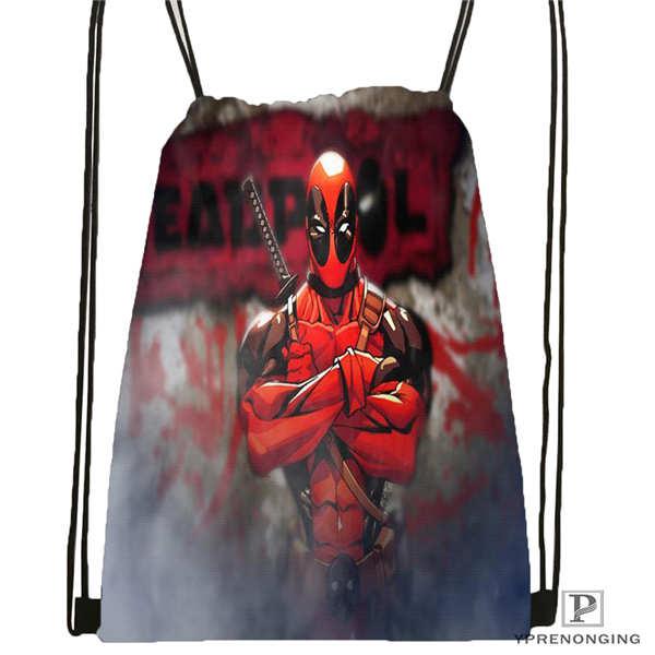 Custom Drawstring Backpack Drawstring Backpack Bag Cute Daypack Kids Satchel (Black Back) 31x40cm#180611-01-02