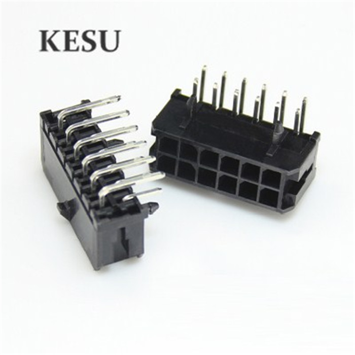 Micro-fit Male Female Connector 3.0mm 2x6 Pin 12pin 12-pin Right Angle/straight Plus Receptacle Housing For Terminal 43025/43045 Selected Material Computer & Office