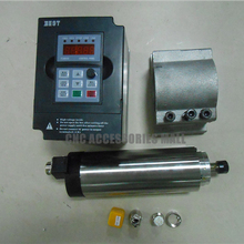 цены CNC Spindle Kit 800W Air-cooled Spindle Motor 24000rpm 220V ER11 collet & 1.5KW VFD Inverter& 65mm Spindle fixture