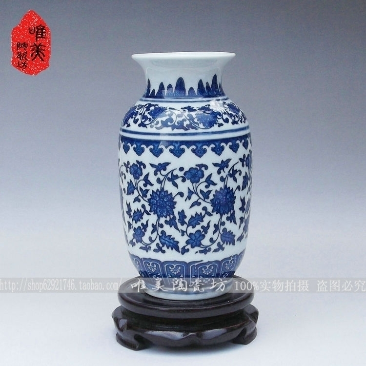 Рождественская керамика голубая и белая ваза маленькая бутылка тыква синие и белые фарфоровые фигурки ручной работы украшения