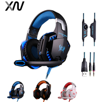 KOTION EACH G2000 Stereo Gaming Casque Fone Headphones Deep Bass Wired Noise Canceling Over Ear Headphone
