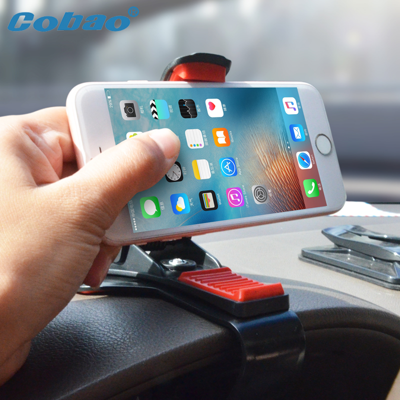 Cobao Instrument desk vehicle-mounted mobile phones support 360 rotating clamps cars use the console for iphone 5.6.7.8.X xiaomi