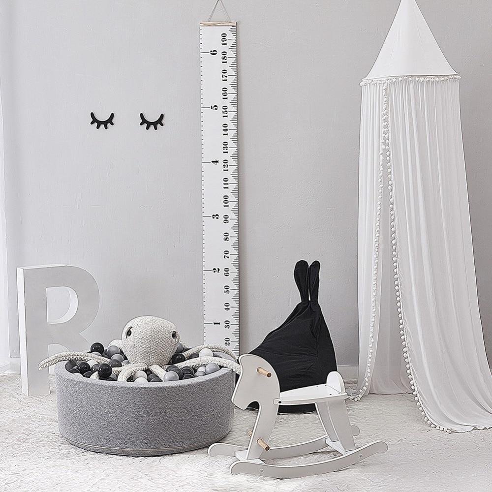 Coton bébé chambre décoration boules moustiquaire enfants lit rideau auvent rond berceau filet tente photographie accessoires 240 cm
