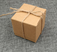 50 sztuk Pudełko Cukierków Ślub Miłość Rustykalne Pakowy kraft Imitacja Kora z Juta Sznurek Chic Vintage Wedding Favor Gift Boxes