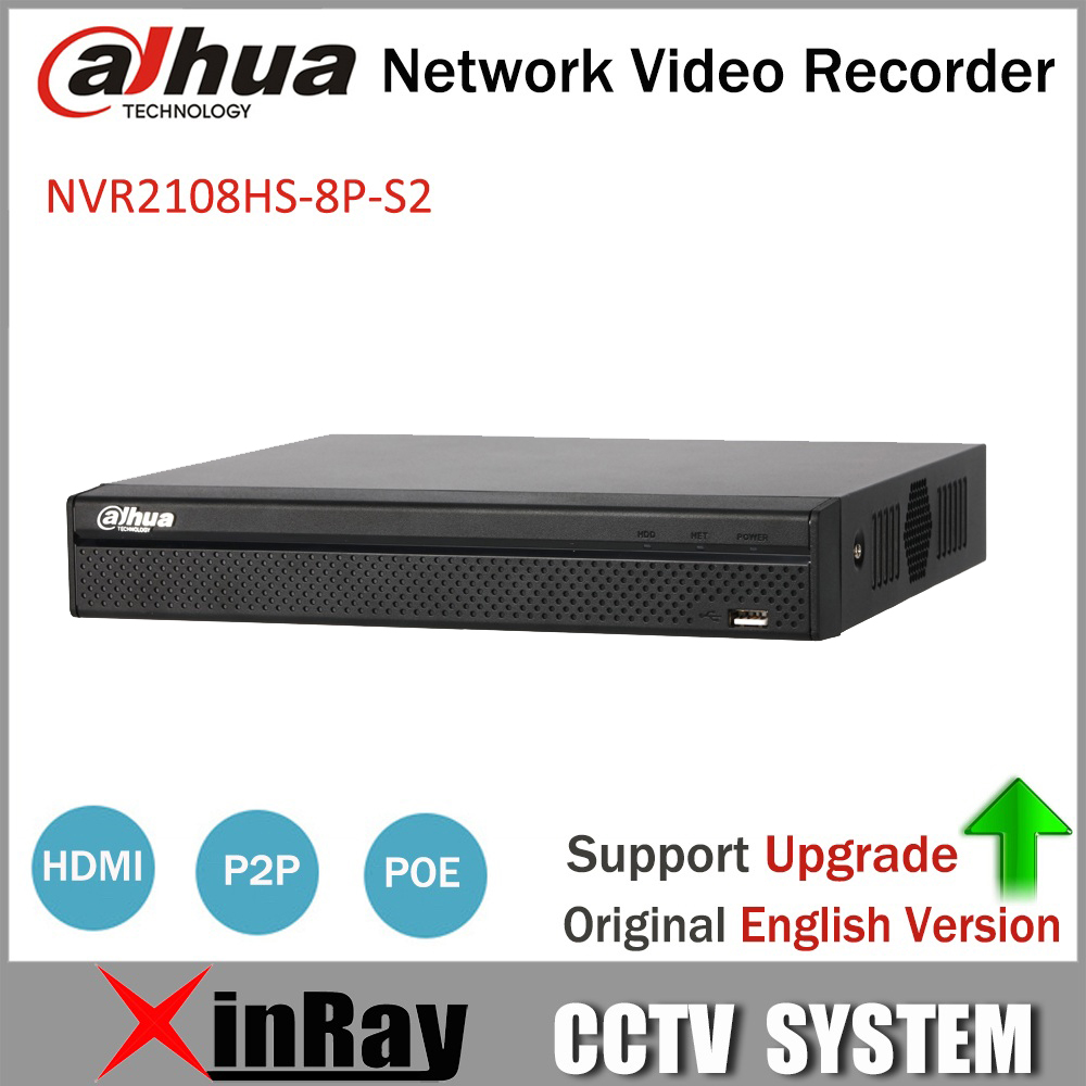 Dahua POE NVR NVR2108HS 8P S2 8CH Network Video Recorder Full HD 1080P Recorder With 1SATA