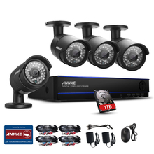 ANNKE HD 8CH 1080P Surveillance Kits AHD DVR 4PCS 3000TVL IR Night Vision Security Camera Video CCTV System Email Alert 1TB