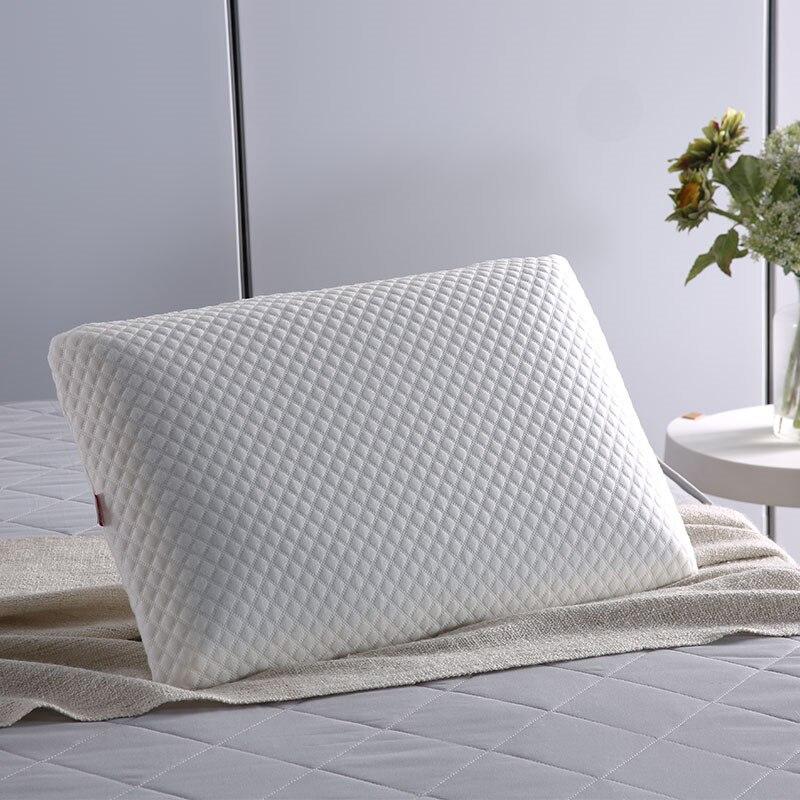 1.97 kg Gel + polyuréthane Massage oreiller en mousse à mémoire de forme Design ergonomique blanc confortable sain doux sommeil 65*45 cm