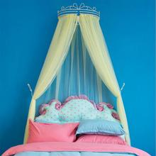 Luxury palace princess style mosquito net solid pure lace bed mantle curtain valance insect screen hollow iron frame