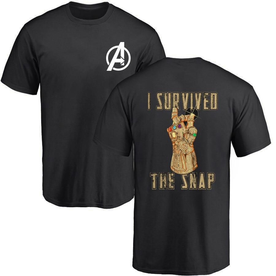 New 2019 Summer Tshirt Men Avengers Infinity War T Shirt Fashion Thanos Gauntlet Collector T-shirt Marvel Tops Tees Clothes