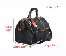 15″(36x17x26cm) Multifunctional Electrical Bag Tools Case Oxford Bag Electrician Canvas Tool Bag Toolkit