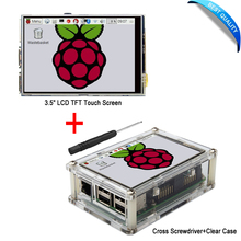 3.5″ LCD TFT Touch Screen Display with Stylus for Raspberry Pi 3 + Acrylic transparent Case Free Shipping