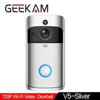 GEEKAM WiFi Video Doorbell V5 Smart IP Video Intercom WI-FI Video Door Phone For Apartments IR Alarm Wireless Security Camera