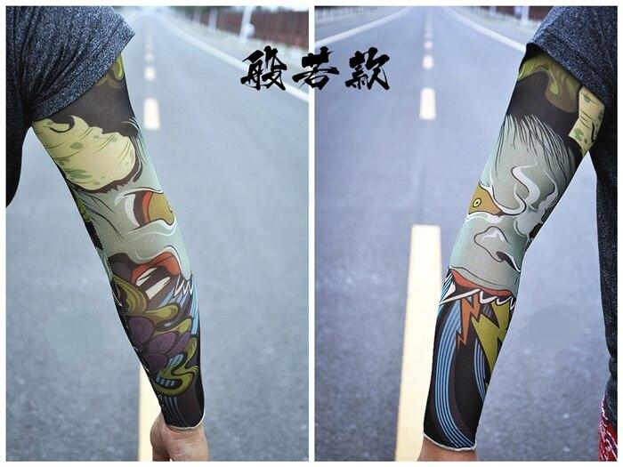 20 Pcs/buy 1 Get 1 Free Rock Arm Warmers Fingerless Gloves Pulseiras De Couro Hand Warmer UV Sleeve Tattoo Punk Armstulpen