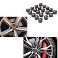 20Pcs Grey Wheel Lug Bolt Nut Caps Durable Plastic Bolt Nut Caps 22*18mm Wheel Lug Bolt Nut Caps For VW AUDI