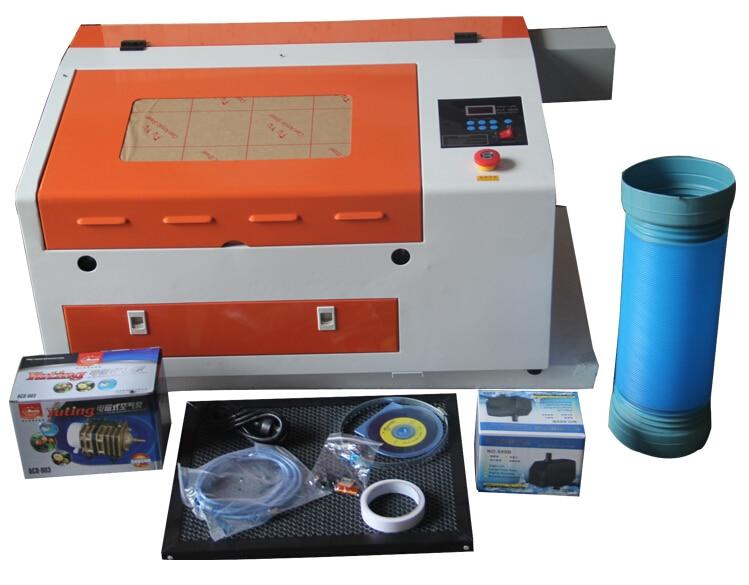 CO2  Laser Cutting Engraving Machine With 50W Laser Tube /Stamp Making Engraving  Machine TS4030/3040
