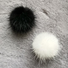 1 PC Real Mini Mink Fur pompom Diy 3cm Pompon Fur balls for Sewing On knitted keychain scarf shoes Hats DIY Jewelry Accessories(China)