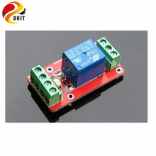 Cheapest prices Official DOIT 1 Channel Relay Module Optical Coupling Isolation High and Low Electric Control 5V 12V 24V ROBOT Raspberry Pi