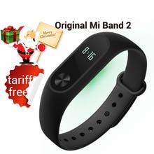 En stock 2016 original xiaomi mi banda 2 inteligente pulsera Band2 IP67 Touchpad Pantalla OLED Del Pulso Del Corazón Del Paso de Tiempo Fecha