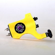 1pcs Newest bishop Cheap Rotary Tattoo Machine yellow Tattoo Gun Clip Cord tattoo kit permanent makeup machine For Tattoo Supply