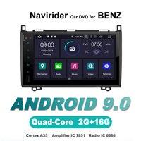 ELANMEY advanced gps навигация для BENZ A/B класс W169 W245 Viano Vito android 9,0 штатную Радио Стерео bluetooth устройства