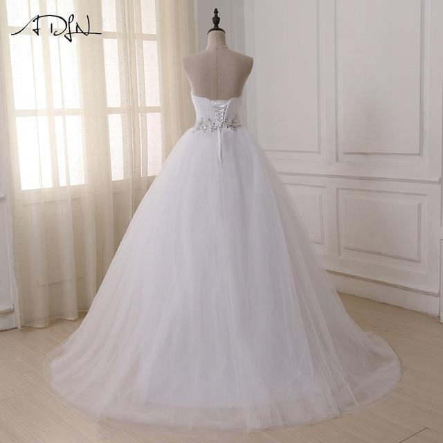 ADLN Stock Wedding Dresses Vestidos de novia Sweetheart Sweep Train Lace Applique Corset Wedding Dress Gowns Robe De Mariage 2