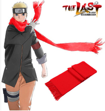 Free Shipping Naruto The Movie The Last-Uzumaki Naruto Red Scarf Anime Cosplay Accessory
