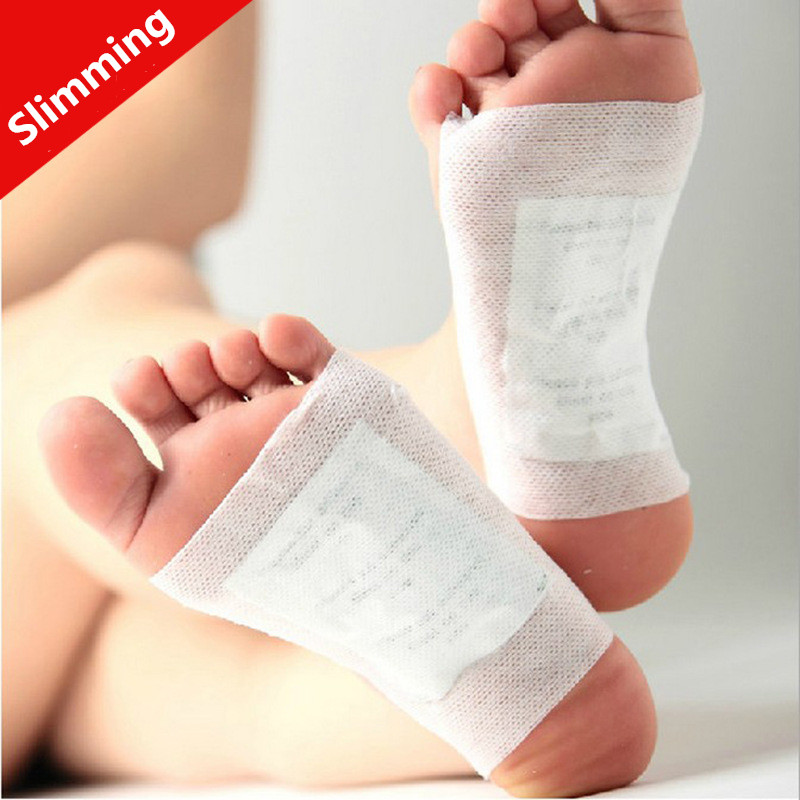 2 Pairs lot Healthy Slimming Foot Patches with Adhesive Feet care Detox Bamboo Pads Maintain Beauty