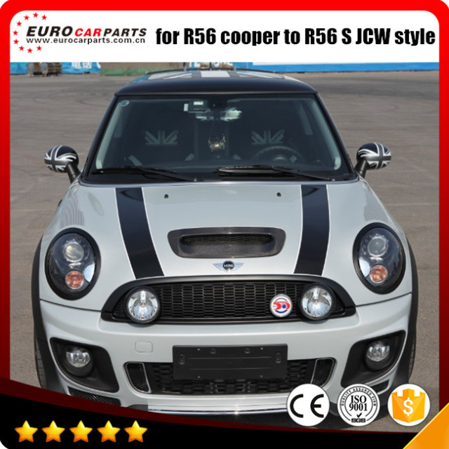 pp material mini r56 body kit for mini cooper r56 s jcw. Black Bedroom Furniture Sets. Home Design Ideas