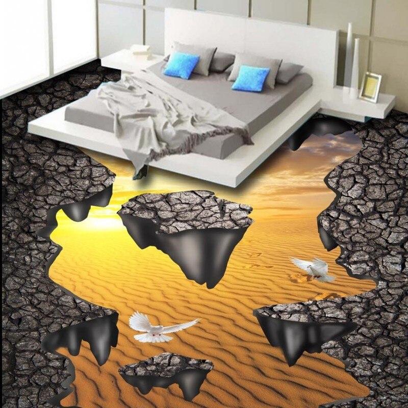 Custom Surface Flooring: Free Shipping Custom Broken Surface Desert Street 3D