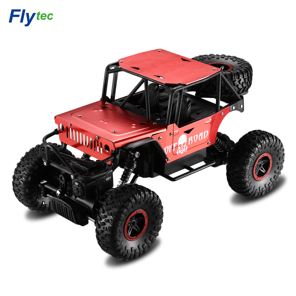 Flytec 1:18 RC Car Toy 2.4G Alloy Four-Wheel Drive Off-Road Drifting Climbing Remote Control Cars Toys Off-Road Vehicle Car Toy