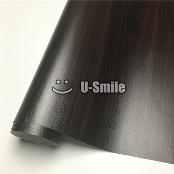 Ebony Wood Self Adhesive Vinyl Film Wood Vinyl Sticker For Wall Furniture Car Interior Size:1.24X50m/Roll(4ftX165ft)