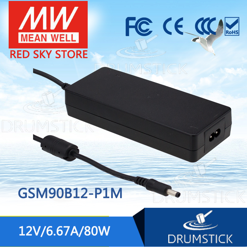 Hot sale MEAN WELL GSM90B12-P1M 12V 6.67A meanwell GSM90B 12V 80W AC-DC High Reliability Medical Adaptor цена