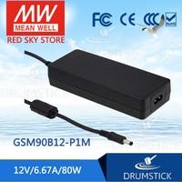 prosperity MEAN WELL GSM90B12-P1M 12V 6.67A meanwell GSM90B 12V 80W AC-DC High Reliability Medical Adaptor