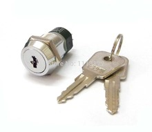 2801 Key Switch Lock OFF/ON Power Switch Lock Key out at OFF position 4 Terminals Switch Lock with flat key 1 key pull 1pc