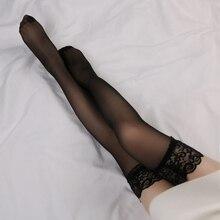 Высокие чулки до бедра, женские летние Гольфы выше колена+ чулки на подтяжках, сексуальные женские Чулочные изделия из нейлона с кружевом, чулки для отдыха размера плюс